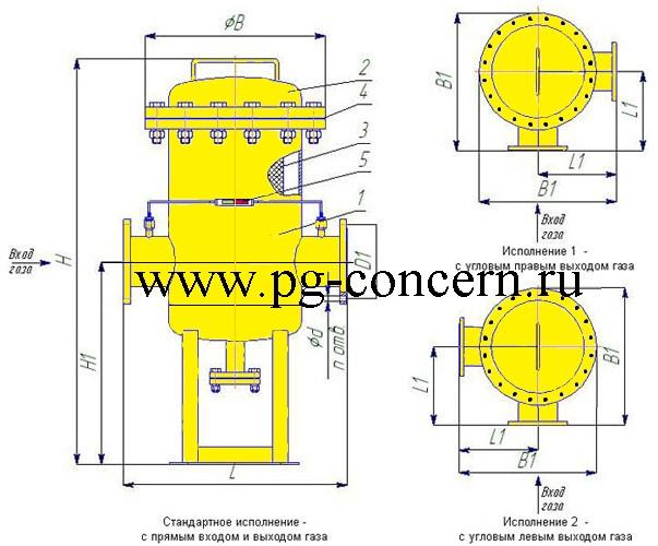 Фильтр газа ФГ-500