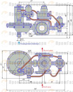 Габаритные размеры РДСК-50-400